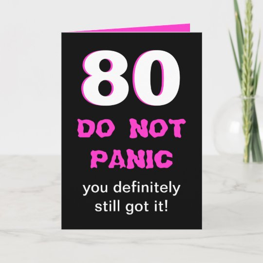 Funny 80th Birthday Card For Women