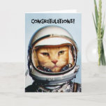 """Funny 80th Birthday Congratulations Card<br><div class=""""desc"""">Funny 80th Birthday Greetings Card with astronaut cat for 80 year old cat lover turning eighty years old</div>"""