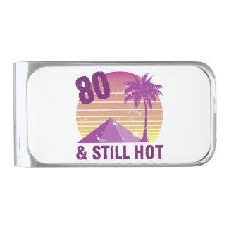 Funny 80th Birthday Hot Silver Finish Money Clip