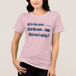Funny 80th Birthday Present - What Was I Saying? T-Shirt