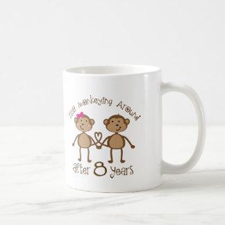 Funny 8th Wedding Anniversary Gifts Classic White Coffee Mug
