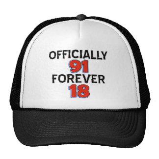 funny 91th birthday designs trucker hat