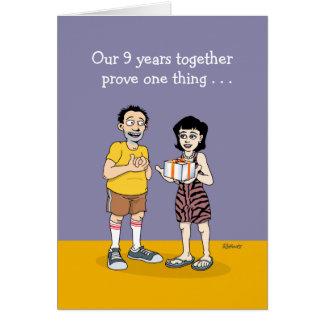 Funny 9th Anniversary Card