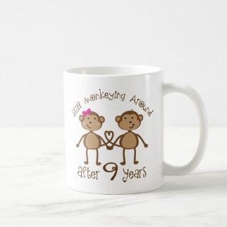 Funny 9th Wedding Anniversary Gifts Classic White Coffee Mug