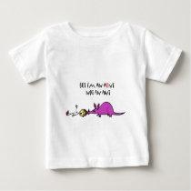 Funny Aardvark Eating Aunt not ant cartoon Baby T-Shirt