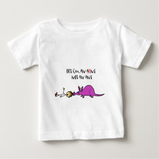 Funny Aardvark Eating Aunt not ant cartoon Baby T-Shirt