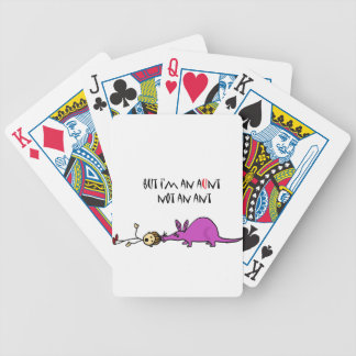 Funny Aardvark Eating Aunt not ant cartoon Bicycle Playing Cards