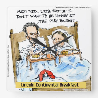 Funny Abe Lincoln W/Mary Todd Wall Clock