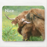 Funny Aberdeen Angus Cow Mousepad / Mousemat