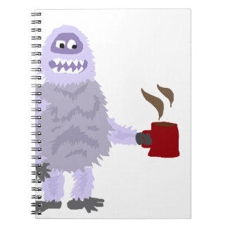Funny Abominable Snowman Drinking Coffee Original Spiral Notebook