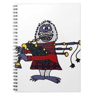 Funny Abominable Snowman Playing the Bagpipes Notebook