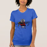 Funny Abominable Snowman Playing the Bagpipes Tee Shirt