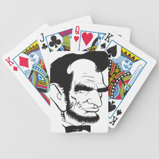funny abraham lincoln caricature bicycle playing cards