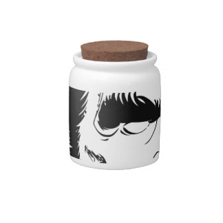 funny abraham lincoln caricature candy jar