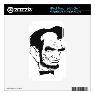 funny abraham lincoln caricature decal for iPod touch 4G
