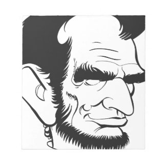 funny abraham lincoln caricature notepad