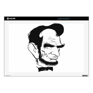 funny abraham lincoln caricature skin for laptop