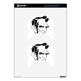 funny abraham lincoln caricature xbox 360 controller skins