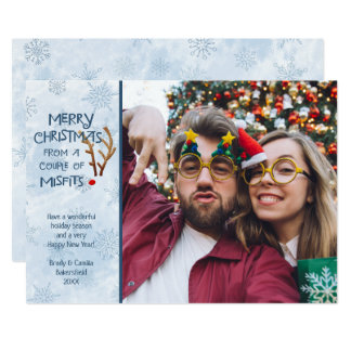 Funny Abstract Red-Nosed Reindeer - From Misfits Card