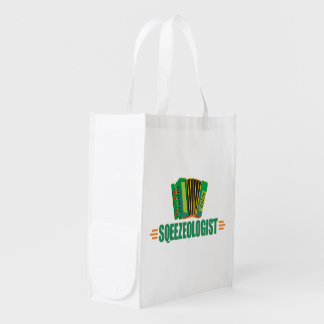 Funny Accordion Grocery Bag