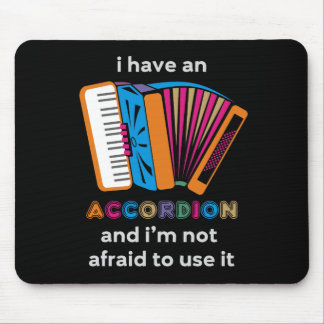 Funny Accordion Mouse Pad