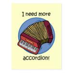 Funny accordion postcard