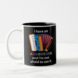 Funny Accordion Two-Tone Coffee Mug
