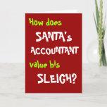Funny Accountant Christmas Card and Joke