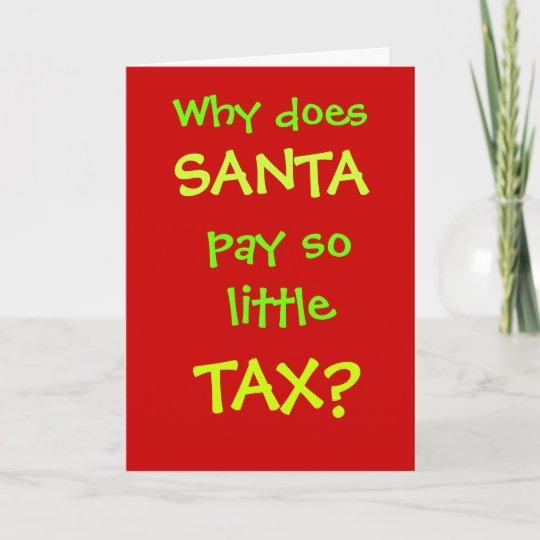 Christmas Accountant.Funny Accountant Christmas Card Santa Tax Joke