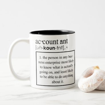 Professional Business Funny Accountant Definition - Accountant Meaning Two-Tone Coffee Mug