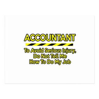 Funny Accountant .. Don't Tell Me Postcard