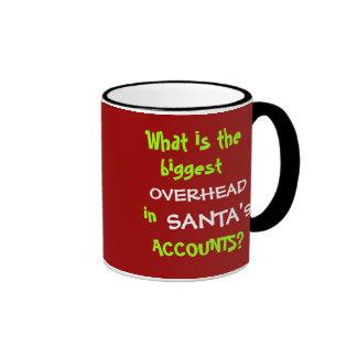 Funny Accounting Christmas and Santa Joke Ringer Mug