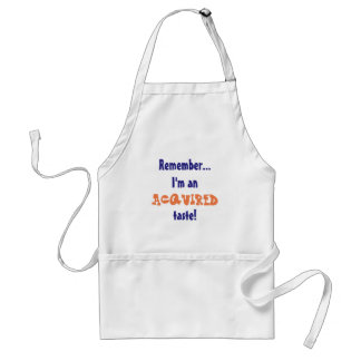 Funny Acquired Taste BBQ Adult Apron