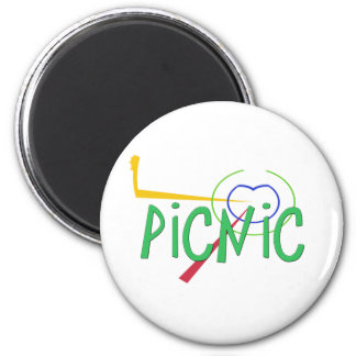 Funny Acronym- PICNIC 2 Inch Round Magnet