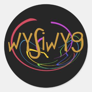 Funny Acronyms- WYSIWYG Classic Round Sticker