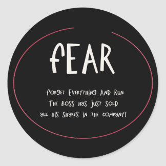 Funny Acronynms - FEAR Classic Round Sticker