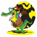 funny actor acting alligator cartoon character acrylic cut out
