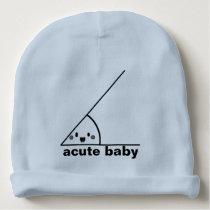 Funny acute angle geeky baby beanie