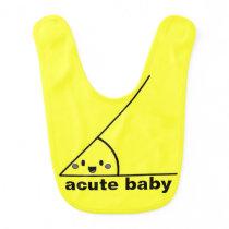 Funny acute angle geeky baby bib