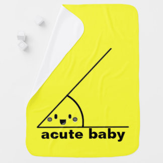 Funny acute angle geeky receiving blanket