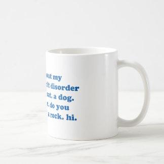 Funny ADD ADHD Quote - Blue Print Classic White Coffee Mug