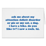 Funny ADD ADHD Quote - Blue Print Greeting Card