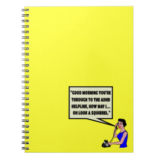 Funny ADHD Spiral Notebook