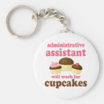 Funny Administrative Assistant Basic Round Button Keychain