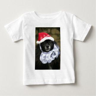 Funny & Adorable Santa Claus Dog With Beard Baby T-Shirt
