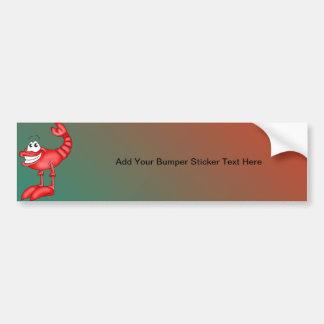 Funny Aerobatic Lobster Bumper Sticker
