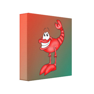 Funny Aerobatic Lobster Stretched Canvas Print