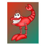 Funny Aerobatic Lobster Postcards
