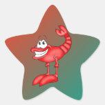 Funny Aerobatic Lobster Star Sticker