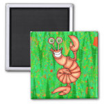 Funny Aerobic Lobster Magnets